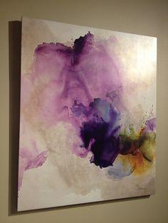 Artwork above bed in master