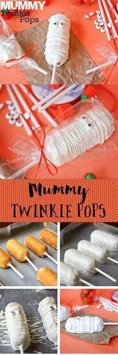 Mummy Twinkie Pops -