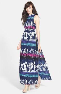 Leith Side Slit Maxi Dress // @Nordstrom