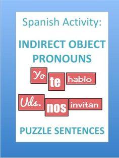 Spanish Indirect Object Pronouns Puzzle Sentences