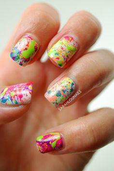 Nails design, multicolor nails, summer nails, Sarah Lou Nails #nail #nails #nailart