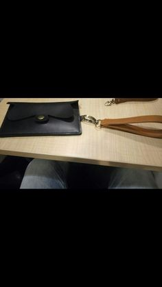 Project 1# black key wallet made from cattle's leather