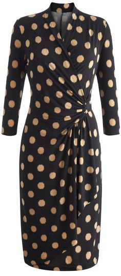 """""""Joanna Hope"""" Joanna Hope Blurred Spot Jersey Dress at Simply Be Mature Fashion, Fashion For Women Over 40, Plus Size Fashion, Plus Size Wedding Dresses With Sleeves, Plus Size Dresses, Plus Size Outfits, Plus Size Peplum, Blazer, Plus Size Women"""