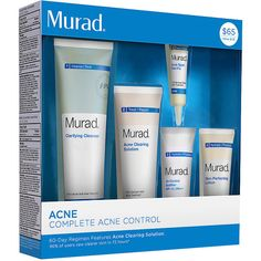 Murad Anti-Aging Acne Complete Solution Kit ($65) ❤ liked on Polyvore featuring beauty products, skincare, face care, murad skincare, anti aging skin care, anti aging skincare, murad skin care and murad