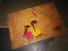 Vintage Wooden Scrapbook / Glendale / Little Indians by Lauralous