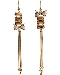 ICONIC BOW GEM MULTI CHAIN EARRING