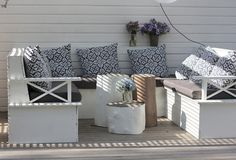 DIY patio sofa. Made this for the deck this summer.
