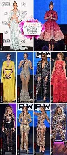 Looks de Jennifer Lopez no American Music Awards 2015 | J.Lo dresses to host the AMA's