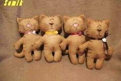 OS MELHORES ARTESANATOS: Molde gatinho em feltro