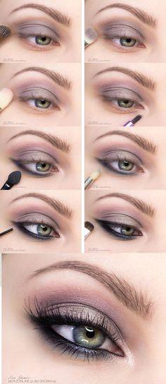Eye Makeup Tips.Smokey Eye Makeup Tips - For a Catchy and Impressive Look Eye Makeup Cut Crease, Eye Makeup Steps, Smokey Eye Makeup Tutorial, Simple Eye Makeup, Makeup For Green Eyes, Natural Eye Makeup, Blue Eye Makeup, Eye Makeup Tutorials, Sexy Eye Makeup