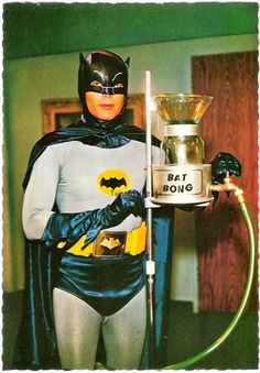 Holly Munchies BATMAN!! To the Bat Bong!