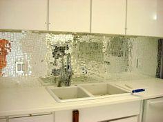 Look! Glass Mirror Mosaic Tile Backsplash