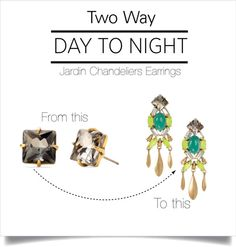 Day to Night- Jardin Earrings by Stella & Dot. Love, love, love these!