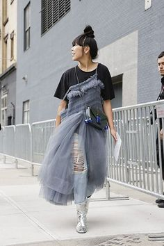 Love the tulle dress! The Best Street Style from New York Fashion Week - Street Chic Looks #richfashion #unique #style #streetstyle #love #ootd