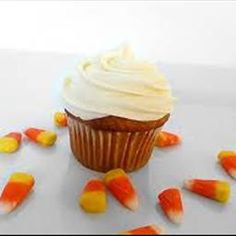 Pumpkin Cupcakes on BigOven: If you'd like, you can garnish them with candy corn.