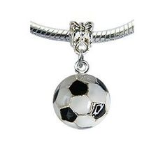 Jewelry Adviser Charms Sterling Silver Antique Soccer Ball Charm