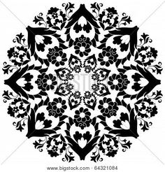 YAY Images - Ottoman motifs design series with forty by antsvgdal Abstract Flowers, Abstract Art, Turkish Art, Motif Design, Stencil Painting, Tile Art, Free Illustrations, Art Decor, Printables