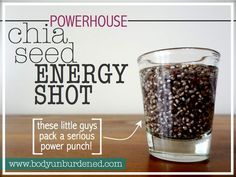 So perk up midday with a chia seed energy shot. chia seeds and water. Healthy Drinks, Get Healthy, Healthy Tips, Healthy Choices, Healthy Snacks, Healthy Recipes, Chia Recipe, Energy Shots, Sustainable Energy