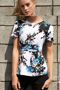 The Peplum Top in Garden Party - add a little fun to your workday.