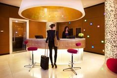 The lobby at OPUS Hotel Vancouver has a trendy contemporary look by day, with a chic night club feel at night. Grab a drink at the lobby bar and dance to the swanky beats as the DJ spins records in the evening.   https://stayful.com/vancouver-hotels/opus-hotel-vancouver