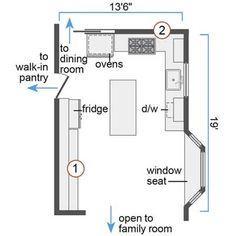 kitchen floorplan | 224 kitchen plans | pinterest | kitchen floors