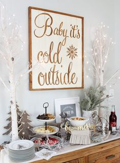 Cute Christmas cookie bar. Free North Pole Cookie Co. printable included!