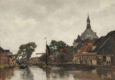 Floris Arntzenius (1864-1925) - A view of Hoorn