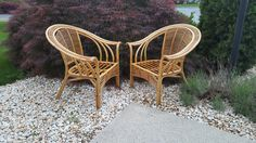 Your place to buy and sell all things handmade Rattan, Wicker, Bamboo Chairs, Mid Century Chair, Arm Chairs, Arms, Boho, Etsy, Furniture