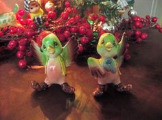 possible lefton bird christmas salt and peppers by OldComfortShop