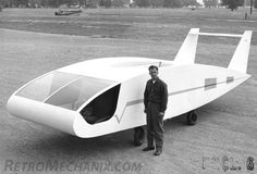 Verticraft Verticar, 1961, wingless VTOL transport with an airfoil-shaped fuselage dating from 1961.