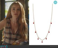 Latest Outfits, Fashion Outfits, Riverdale Fashion, Riverdale Cheryl, Cheryl Blossom, Gold Choker Necklace, Fall Wardrobe, Clothing Items, Veronica