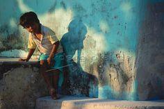 Kind auf den Malediven