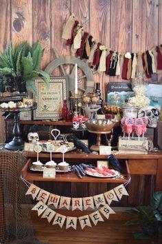 Party Feature: Captain Jack Sparrow Pirate Party on http://pizzazzerie.com
