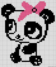 Baby panda perler bead pattern