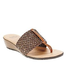 Andre Assous Nima Weave Thong Sandals :: Casual Sandals :: Shop now with FootSmart