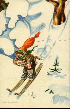 Julekort Aukrust Utg Oppi