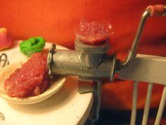 miniaturowe-domki: Maszynki do mielenia mięsa skala 1:10 - tutorial