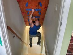 Carl Fantauzzo competed on American Ninja Warrior in Denver and his episode airs Monday. Home Climbing Wall, Rock Climbing, Kids Climbing, American Ninja Warrior Obstacles, Indoor Gym, Indoor Play, Climbing Stands, Basement Renovations, Basement Ideas