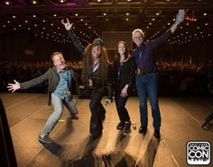 Voice actors Dee Bradley Baker, Jess Harnell, Tress MacNeille, and Rob Paulsen at Salt Lake Comic Con 2015