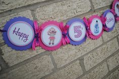 NEW - Doc Mcstuffins Word Banner. $12.50, via Etsy.