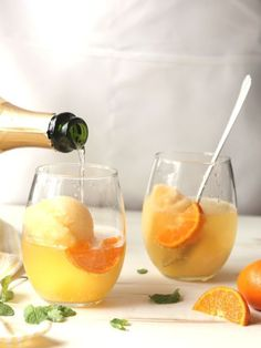 Sorbet Mimosa Float recipe