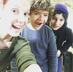 Millie, Gaten and Finn