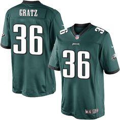 $24.99 Youth Nike Philadelphia Eagles #36 Dwayne Gratz Limited Midnight Green Team Color NFL Jersey