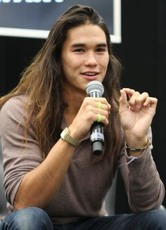 I love BooBoo Stewart... It all started with Twilight but I like him with long hair better...