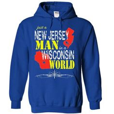 New Jersey Man In A Wisconsin World T-Shirts, Hoodies, Sweatshirts, Tee Shirts (41.97$ ==> Shopping Now!)