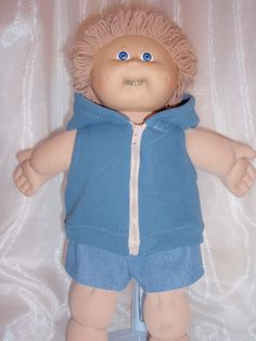 Cabbage Patch Summer Shorts and Hoodie by Karensdollkreations on Etsy