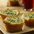 breakfast quiches - very easy quiche recipe. great for baby or bridal showers. put on cupcake stand for a nice display!