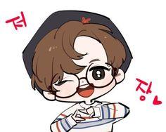 JEOJANG;] Bts Chibi, Anime Chibi, Anime Art, Jungkook Fanart, Kpop Fanart, K Wallpaper, Kpop Drawings, Face Sketch, First Art