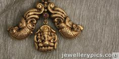 Lakshmi devi temple pendent collection Sayar jewellers Chennai - Latest Jewellery Designs