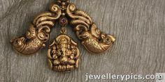 Lakshmi devi temple pendent collection Sayar jewellers Chennai - Latest Jewellery Designs